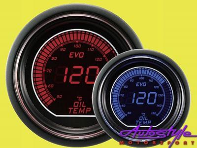 Autogauge EVO Oil Temp Gauge 52mm