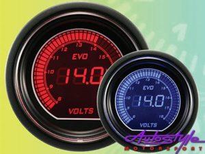 Autogauge EVO Volt Gauge 52mm-0