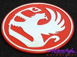 Badge Vaxhaul Red 65mm-0