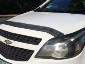 Chevrolet Utility Carbon look bonnet shield -0