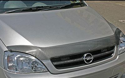 Opel Corsa '08up Carbon Look Bonnet shield