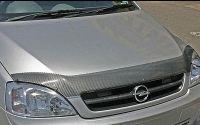 Toyota Corolla 2007 Carbon look bonnet shield