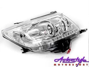 Hilux 2011 Chrome DRL Headlights-0
