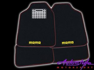 Universal Momo Car Mat Black & Red-0