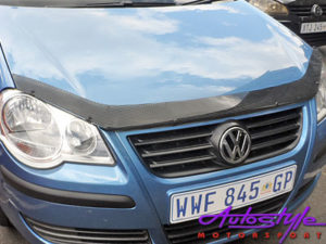 VW Polo 05+ Carbon Look Bonnet Guard-0