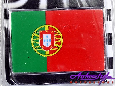 Badge Portugal Flag -70mm x 45mm-0