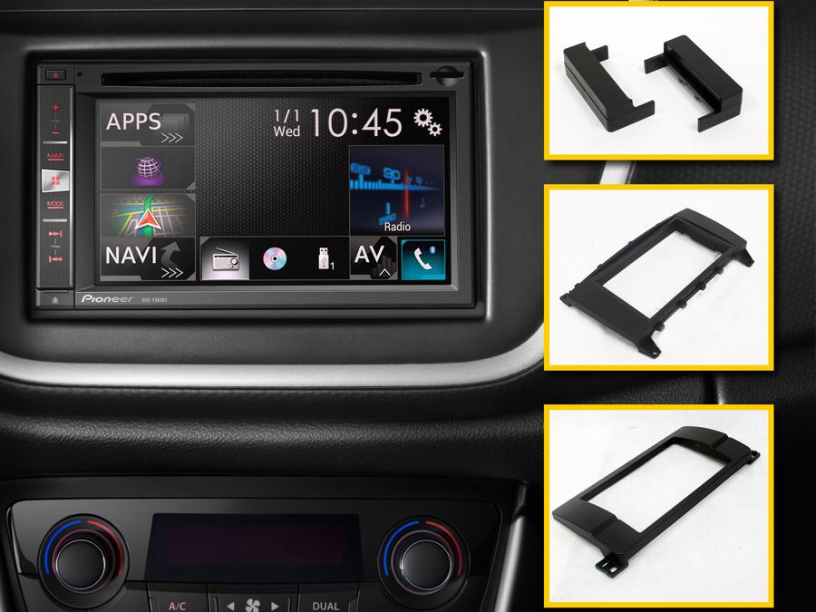Radio Fascia Trim Plate for Nissan Tiida Universal Pocket