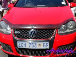 VW Golf 5 Carbon look bonnet shield -0