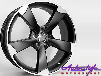 18″ Black RS3 5/112 Alloy Wheels