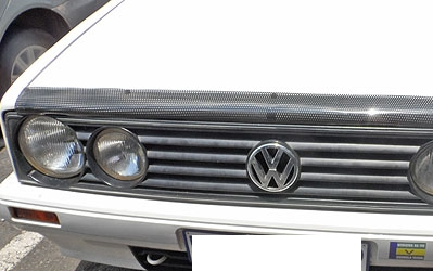 VW Golf 1 Carbon look bonnet shield