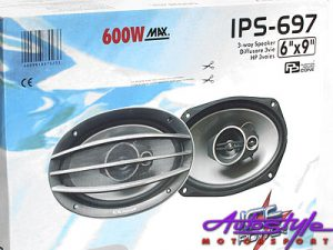 Ice Power IPS-697 600w 3 Way 6x9 Speakers-0