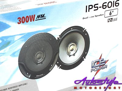 "Ice Power 6"" 300w Dual Cone Speaker -0"