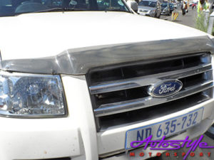 Ford Ranger 2007+ Carbon look bonnet shield -0