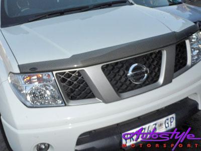 Nissan Navara Carbon look bonnet shield -0