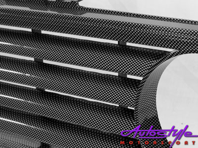 VW Mk1 Double Carbon Badgeless Grille