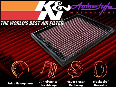 K&N Performance Flat Pad Air Filters Available to fit: Renault Clio III-11558