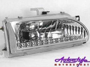 Toyota E8E9 Chrome DRL Headlight-0