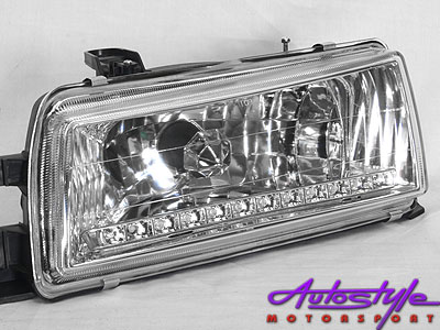 Toyota Twincam Chrome DRL Headlight