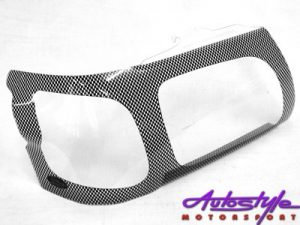 Toyota Hilux 2000 Carbon Fibre Look Headlight Shields-0