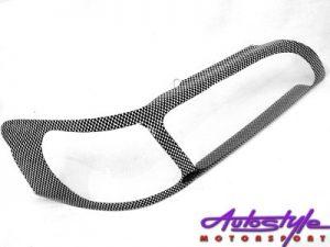 Toyota RXi 00-02 Carbon Fibre Look Headlight Shields-0