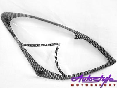 Nissan Livina 2008 Carbon Fibre Look Headlight Shields