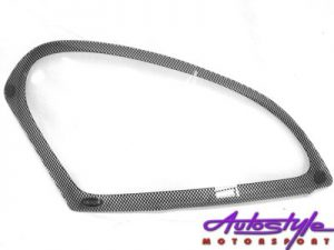 Nissan Qashqai Carbon Fibre Look Headlight Shields-0