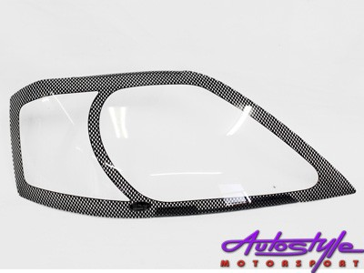 Nissan NP200 Carbon Fibre Look Headlight Shields