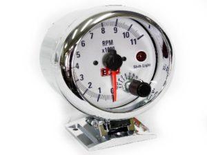 """Autogauge 3"""" Silver Tacho Meter-0"""