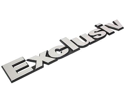 Exclusive Brushed Alluminium Sticker Badge (23cm)