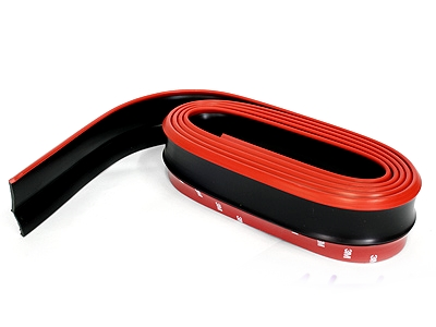 Samurai Universal Flexible Fibre Look Spoiler (red & black)-0