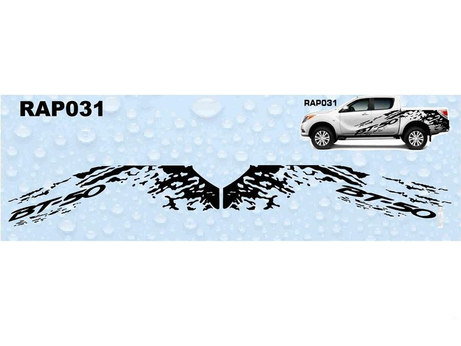 Mazda BT-50 Tear Splash RAP031 Vinly Sticker Kit-0