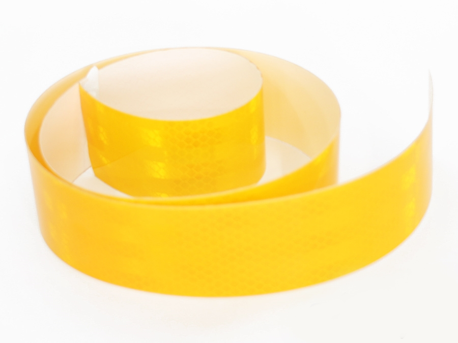 Adhesive Reflector Warning Tape 1metre (yellow)