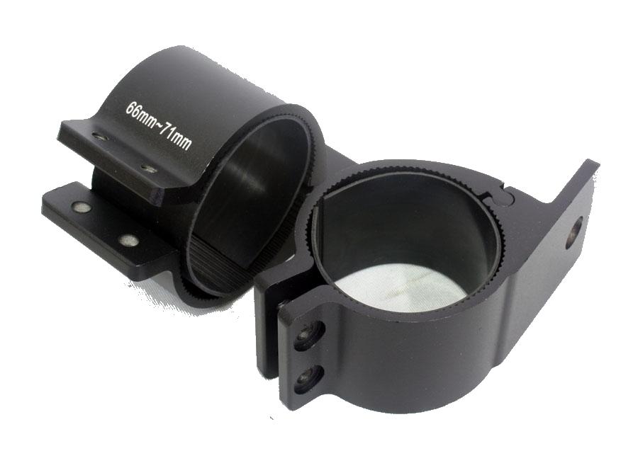 Universal Satin Black Bar Bracket for Spotlamps 66-71mm-0