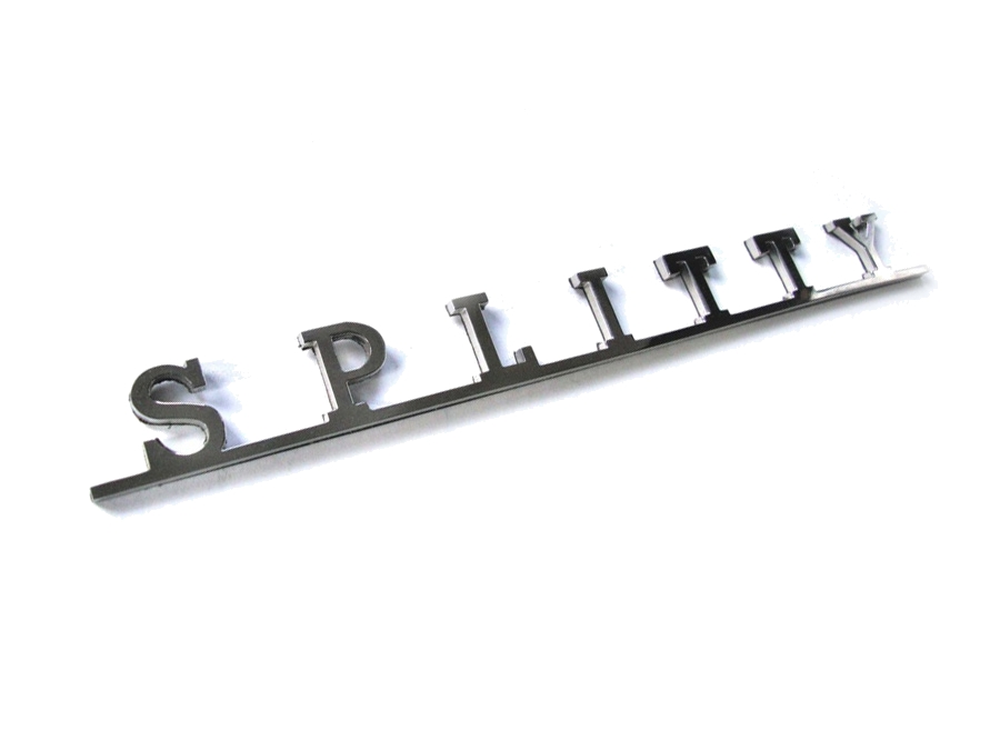 VW Splitty Script Stainless Steel Badge-0