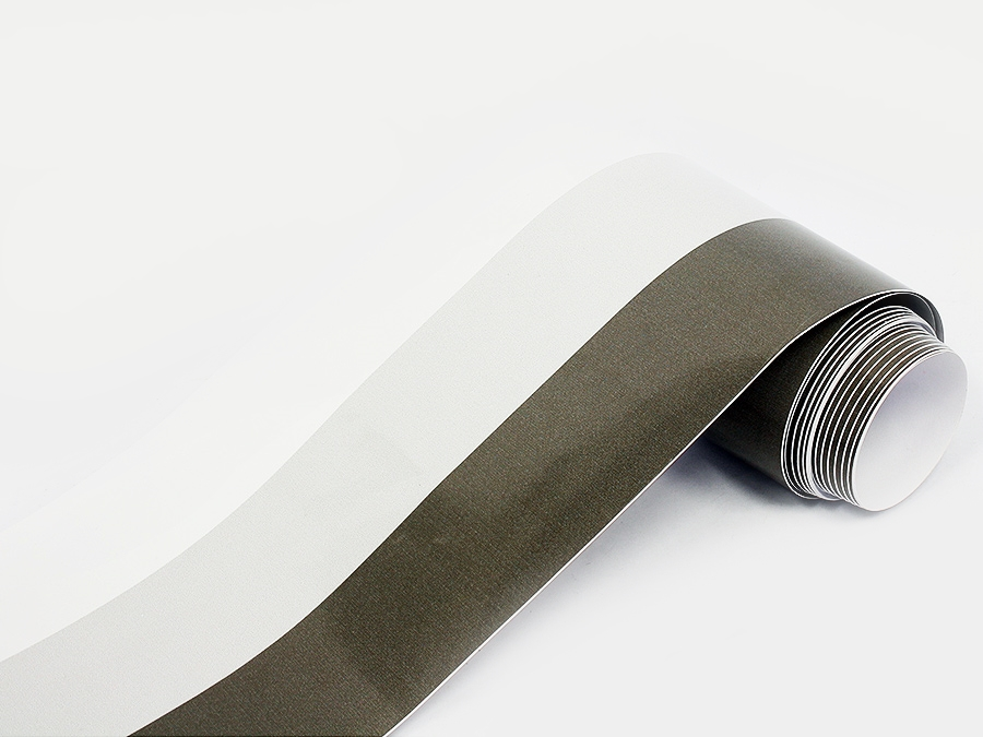 Grey & Silver M Style Racing Stripes (15cm x 4.5m)