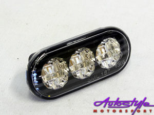 VW Golf/Jetta Mk3 Over LED Smoked Side Indicators (pair)-0