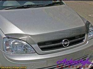 Ford Fiesta/Ikon Carbon Look Bonnet Shield-0