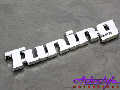 Chrome Tuning Letters Sticker Badge