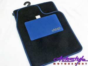 Autostyle Blue Padded Car Mats (set of 4)-0