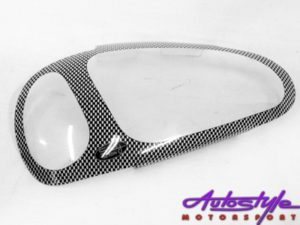 Opel Corsa 94-00 Carbon Fibre Look Headlight Shields-0