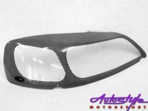 Opel Astra 99up Carbon Fibre Look Headlight Shields-0