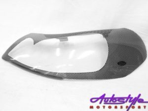 Suzuki SX4 2010 Carbon Fibre Look Headlight Shields-0