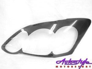 Toyota Run-X Carbon Fibre Look Headlight Shields Face-Lift-0