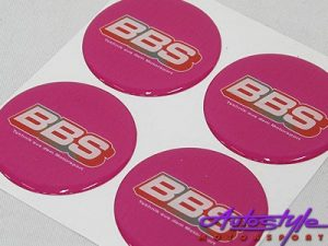 BBS Pink wheel center cap stickers-0