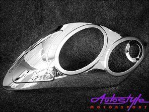Toyota Fortuner Chrome Headlight Covers-0