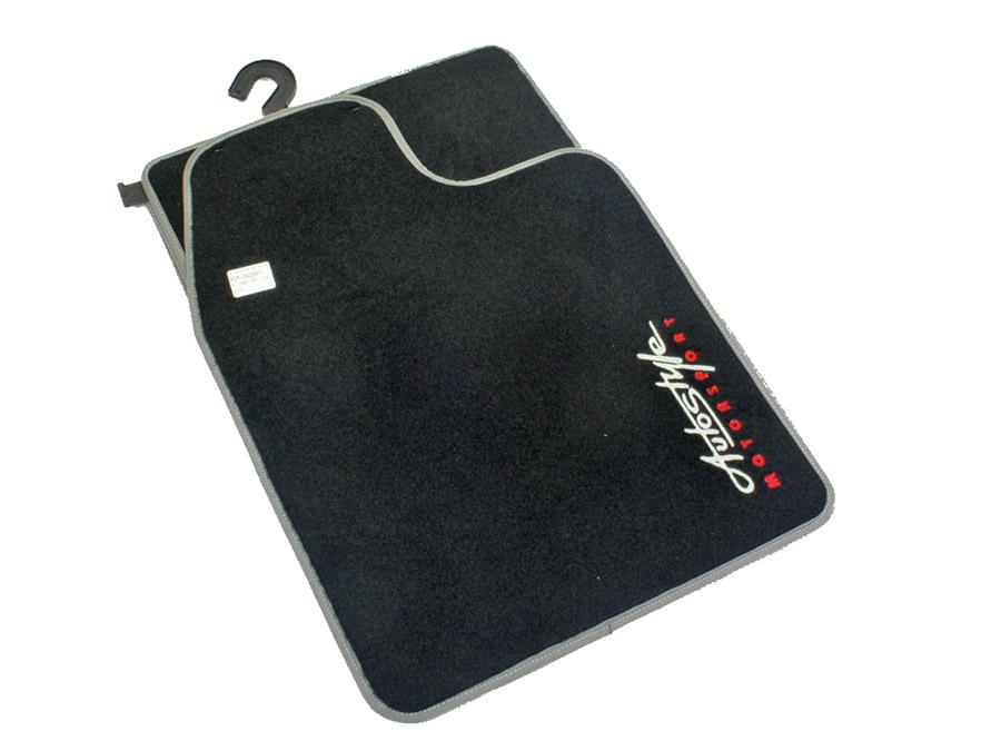 Autostyle Velour Black & Grey Floor Mats