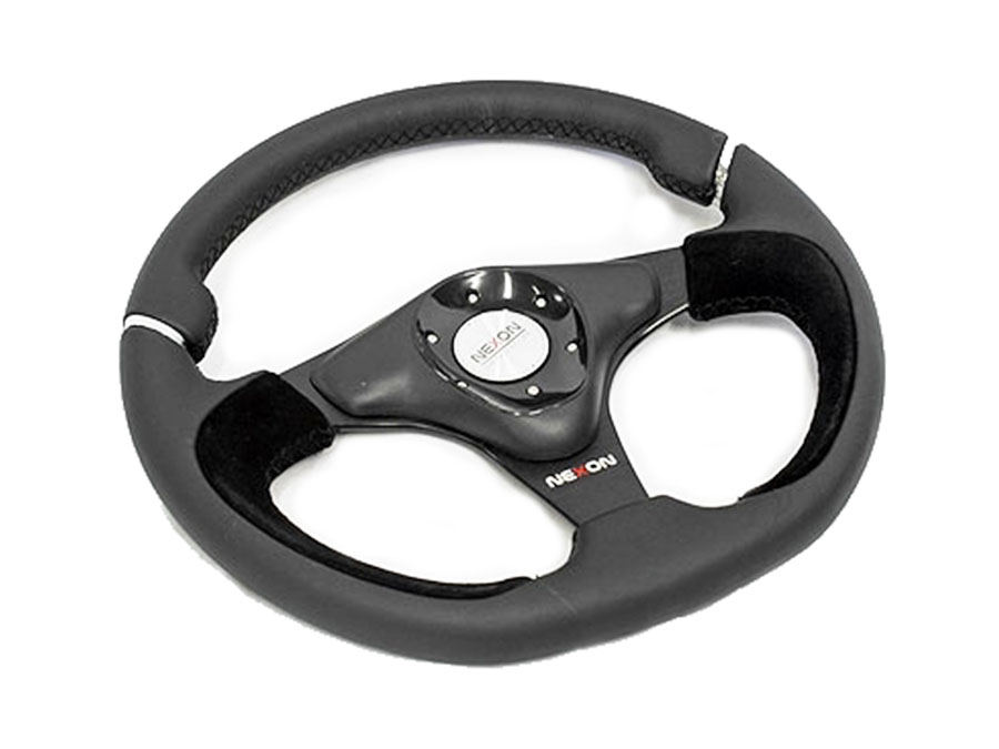 NX Genuine Leather & Suede Sports Steering wheel