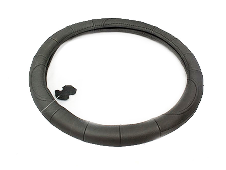 NX Steering Wheel Cover in Black Leather Finish