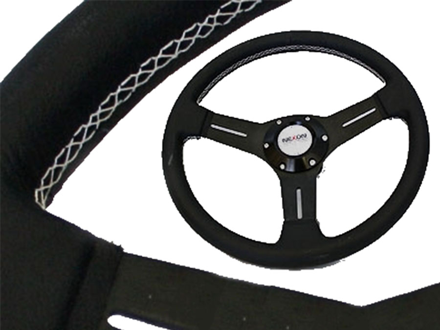 Twin spoke Black Steering Wheel 330mm