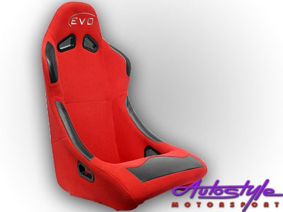 Evo Tuning Red Non Reclinable Racing Seat (each)